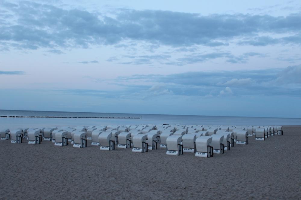 Insel Ruegen Sellin Stille Strandkorb